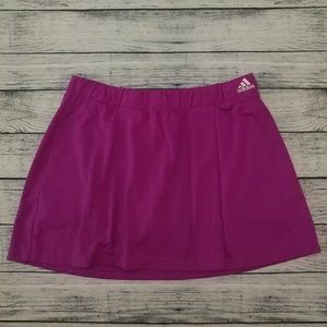 Adidas Climalite bright purple tennis skort